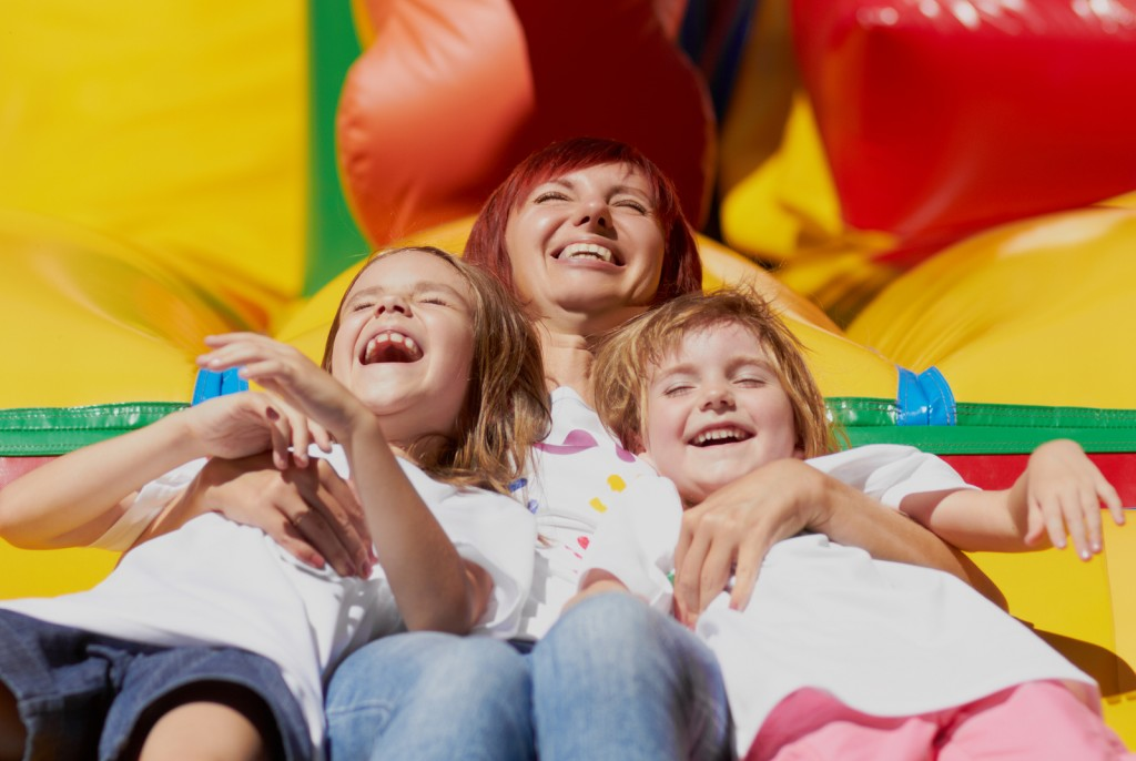 Renting a bouncy house